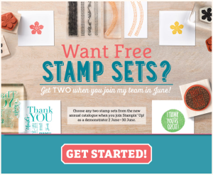 Two Free Stamp sets in June