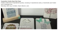 Inspiration Cards Desk Set Class July 18th