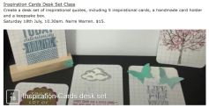 Inspiration Cards Desk Set Class July 18th