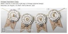 Vintage Inspiration Class August 1st