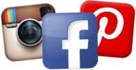 Facebook Instagram Pinterest