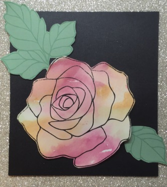 water colour rose