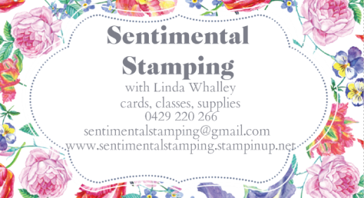 sentimental stamping business card