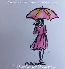 watercolour umbrella