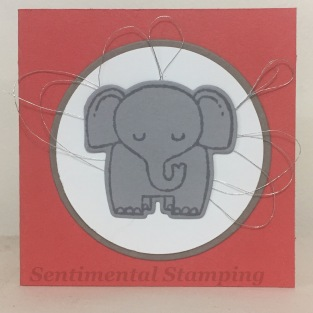 a little wild elephant front
