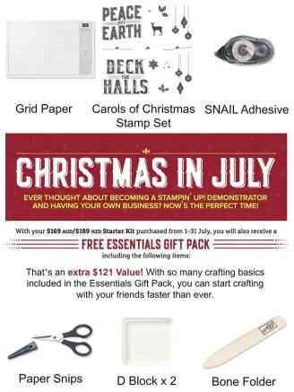 christmas in July promotional pack