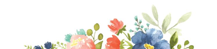 Blog flower header