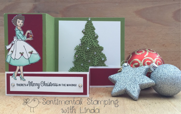 Christmas in the Making -z fold card