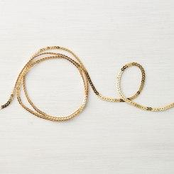 mini gold sequin
