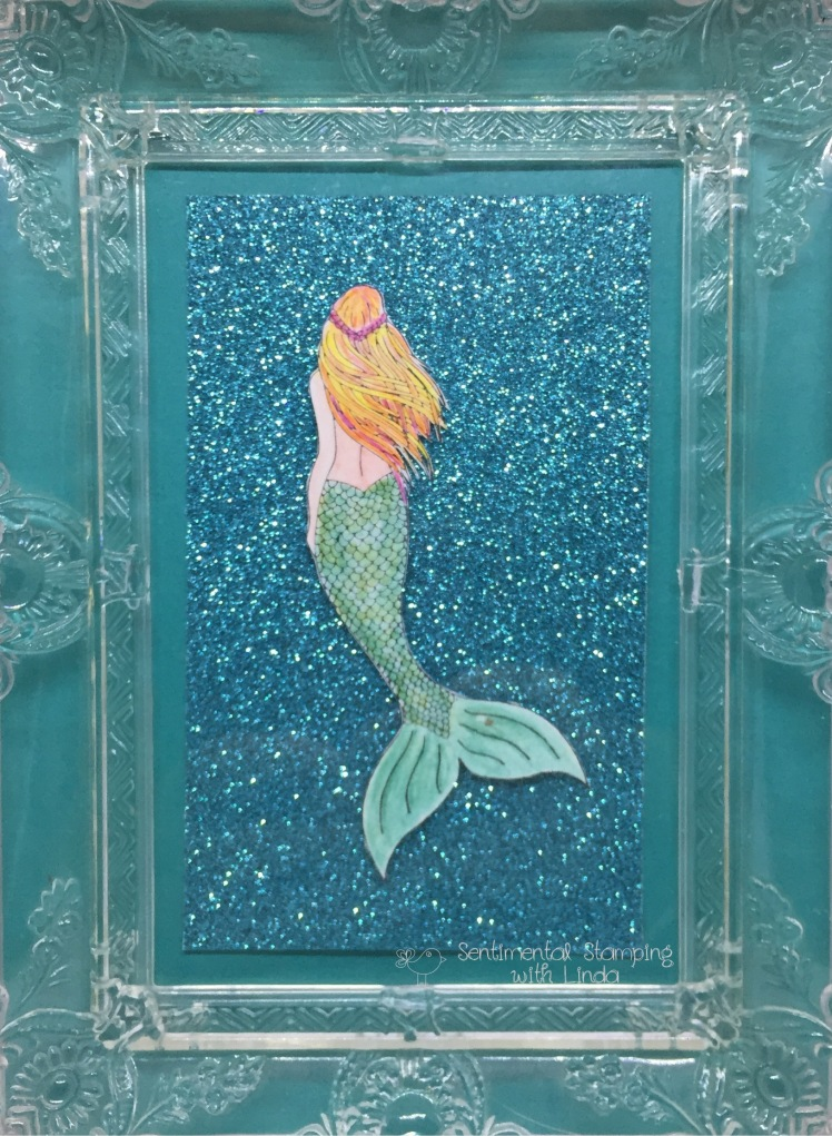 magical mermaid sparkle frame
